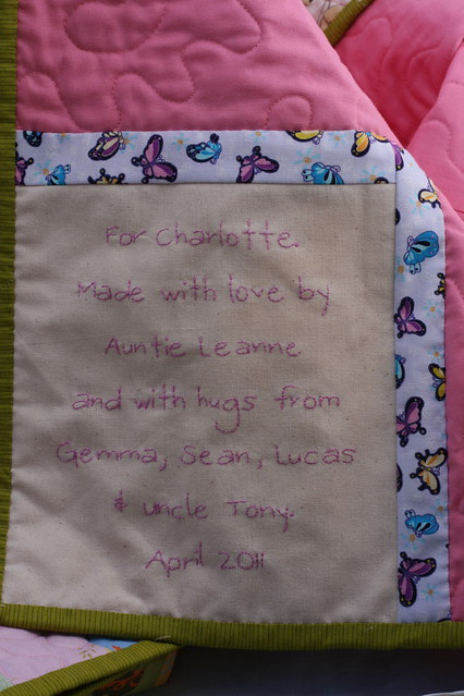 A quilt for Charlotte