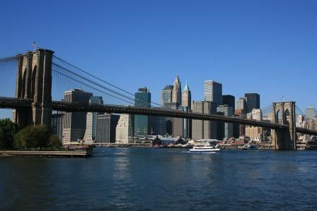 Brooklyn Bridge and Lower Manhattan skyline