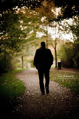 Last Goodbye (Franck Tourneret) Tags: park autumn man tree leaves start automne walking 50mm nikon bokeh path goodbye arbre parc chemin feuilles homme dpart aurevoir marcher