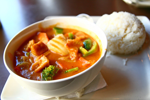 Panang Curry with Tofu at Thai Place Kansas City