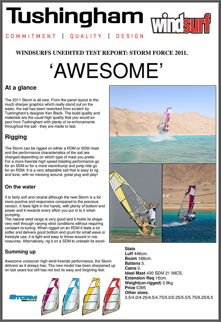 Tushingham Storm 2011 windsurf test report
