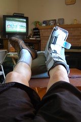 FUTAB (Bill's_Eye_View) Tags: boot cast sigh bustedankle futab feetuptakeabreak