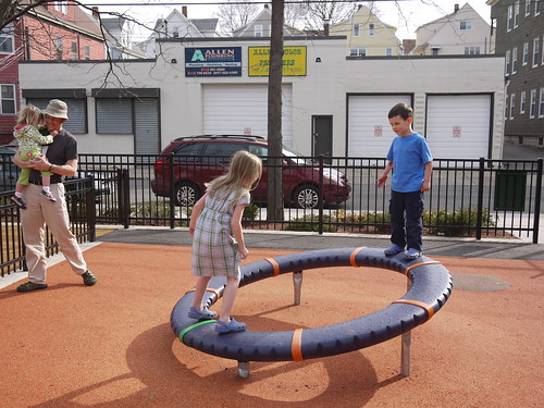 Cool spinny playground toy