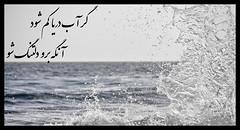 گر آب دریا کم شود، آنگه برو دلتنگ شو (lostpolarbear) Tags: شو آب دریا دلتنگ طراحی مولوی دنگ