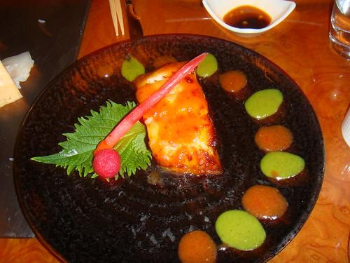 Bacalao negro con salsa miso