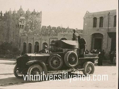 1914 Admiral pattern rolls royce armoured car, Damascus 1921