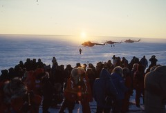 Start of Polar Bridge Expedition 1988 (Weber Arctic Expeditions) Tags: ice richard misha weber northpole frostbite arcticocean polarexpedition malakhov wardhuntisland fischerskis polarbridge polartraining capearkticheskiy dimitrishparo shparo