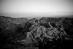 Sunrise over Mount Sinai (tom chandler) Tags: mountains rocks egypt shapes sinai rockpatterns