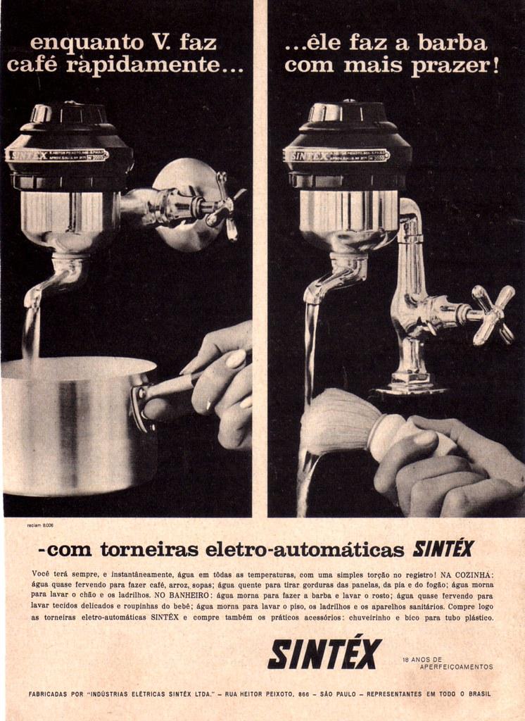 1958 Ad - Sintex electric faucets