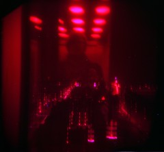 going down (jojonas~) Tags: plaza colour 120 me holga fuji elevator hell umeå jag reala hiss