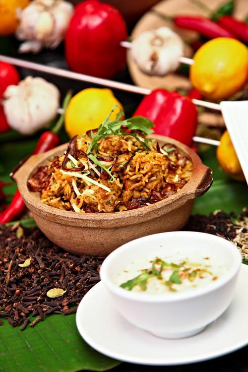 Murgh (Chicken) Biryani and Raita