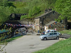Tunnel End Cottages (jrw080578) Tags: trees buildings boats canal yorkshire tunnel huddersfieldnarrowcanal