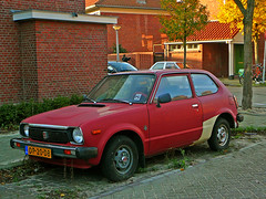 Honda Civic Automatic, 1979, Amsterdam, Amsterdam-Noord (Jacques Mounnezergues) Tags: auto street car amsterdam vintage honda voiture civic spotted rue straat hondacivic amsterdamnoord