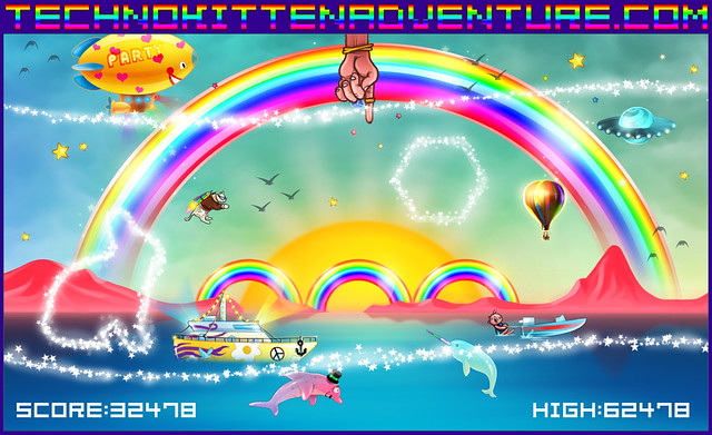 New Techno Kitten Adventure Screenshot