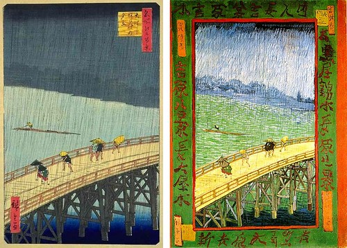 Comparisons of Hiroshige and Van Gogh: Spanning Time by roberthuffstutter