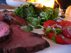 Beef and salad