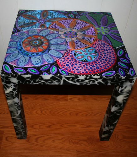 "side table 18"" x 18"" by Rick Cheadle Art and Designs"