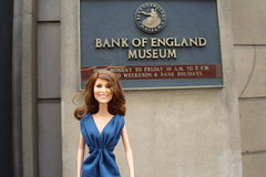 Princess Catherine Engagement Doll at the Bank of England (Princess Catherine Doll) Tags: london toy doll princess kate royal tourist catherine british middleton arklu