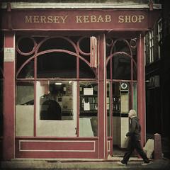 mersey kebab shop (fotobananas) Tags: texture shop liverpool vintage explore takeaway kebab mersey explored skeletalmess