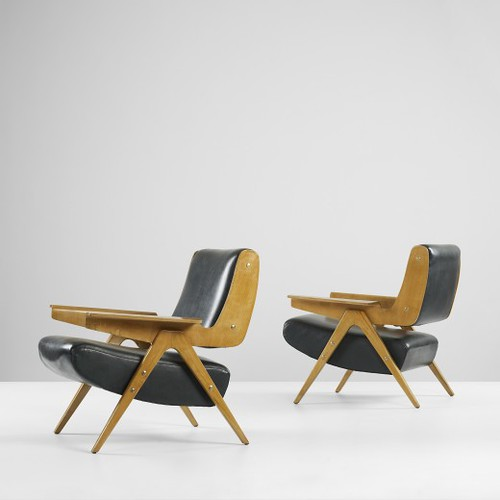 Gianfranco Frattini, lounge chairs model 831