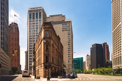 Cadillac Square - Detroit (mgsmith) Tags: city usa building architecture geotagged us downtown michigan detroit artdeco guardianbuilding firstnationalbuilding cadillactower 2011 cadillacsquare 1001woodward tourdetroit eastcongress detroittour