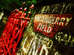 strawberry fields forever (fotobananas) Tags: red liverpool pen fence strawberry gates olympus explore fields beatles forever friday johnlennon strawberryfields ep1 hff woolton strawberryfieldsforever strawberryfield explored nothingisreal fotobananas