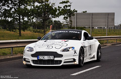 Gumball 3000 2011, Calais to Paris. (Melvin Scholten) Tags: road white paris france public car photography nikon martin rally automotive exotic stunning tuner melvin tuning 3000 impressive v8 aston gumball calais scholten vantage tuned 2011 gumballer mansory d5000 worldcars