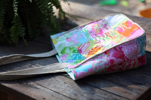 lilly bag - burlap piping