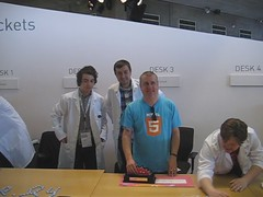 Long awkward pose with the HTML5 Doctors