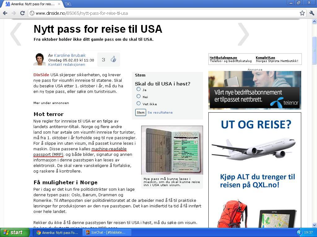 machine readable passport