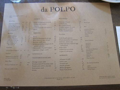 Da Polpo, Covent Garden