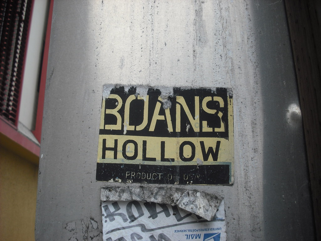 BOANS HOLLOW sticker - Oakland, Ca