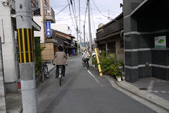 Riding through Nishijin