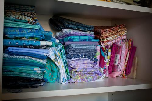 Fabric Closet - Reorganized