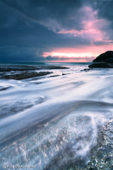 Whale Beach Sunrise (-yury-) Tags: ocean sunset sea seascape storm motion beach nature water clouds sunrise canon landscape photography sydney wave australia nsw whalebeach 5dmk2 thepowerofnow