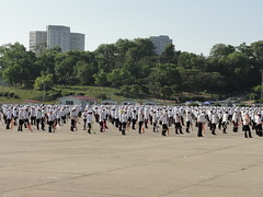 Children practising for Arirang Games - Triumph Return Square, Pyongyang (mikestuartwood) Tags: festival children square asian asia child north games korea communist communism korean return triumph socialist mass socialism northkorea pyongyang practicing dprk dpr arirang northkorean ariranggames massgames dprkorea dprkorean triumphreturnsquare