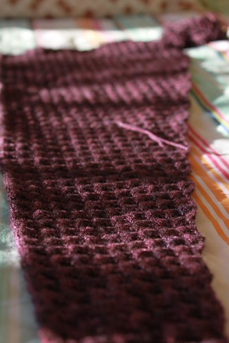 Solveig scarf in progress
