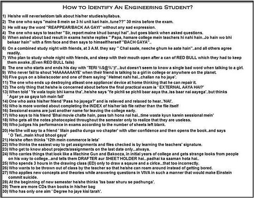 5854585188 367ee18f06 How to identify an Engineering Student?