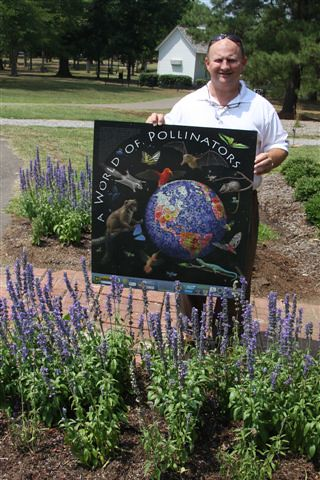 Steve Martens uses practices on his Sunflower County land that provides big benefits for pollinators. Martens is pictured at the NRCS's pollinator garden in Madison's Strawberry Park.