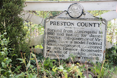 Preston County Sign (bangela95) Tags: sign historical wv arthurdale new deal museum nikon d750 preston county black white fence weathered