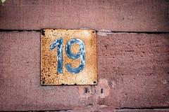 Nineteen (fidepus) Tags: ifttt 500px kaiserslautern pfaff urban exploration urbex industry industrial 19 nineteen sign tin wall red rust