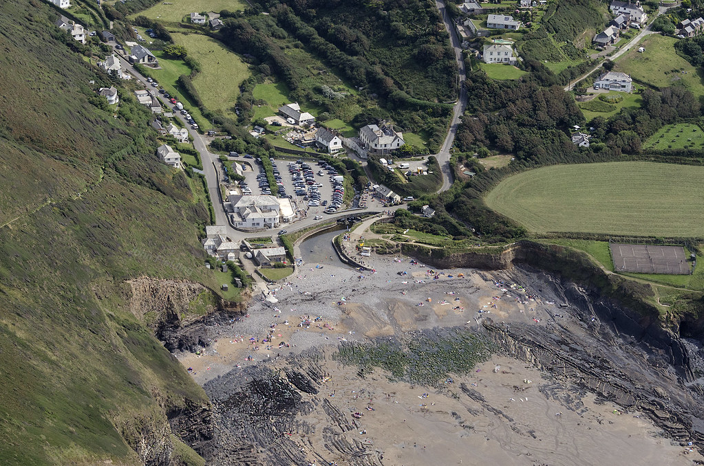 Crackington Haven aerial image