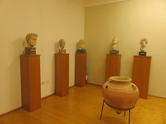 Albania - Near Pojani - Apollonia - Museum - Busts / Heads (JulesFoto) Tags: albania apollonia pojani fier museum