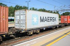 92559 Northampton 120816 (Dan86401) Tags: 92559 rls92559 92 kfa freightliner fl intermodal modal container flat wagon freight rls standardwagon touax northamptin wcml 4l97 maersk