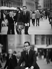 [La Mia Citt][Pedala] con il BikeMi (Urca) Tags: milano italia 2016 bicicletta pedalare ciclista ritrattostradale portrait dittico bike bicycle nikondigitale mir biancoenero blackandwhite bn bw nn 89150 bikemi bikesharing