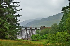 Loch Arklet Dam 1 (brightondj - getting the most from a cheap compact) Tags: sixthwalk inversnaid scotlandrain weather rain summer2016 holiday summerholiday uk britain ukholiday