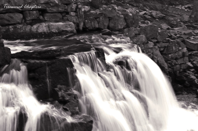 silky waterfall b&w