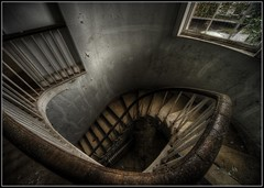 Spiral Decent (Ivorbean) Tags: school scary nikon decay creepy spooky urbanexploration rusting rotten derelict decayed ue urbex flakingpaint abandonedschool d700 i