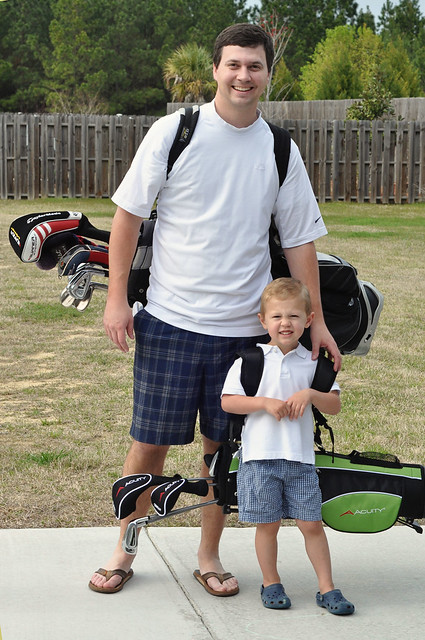 golfer with daddy