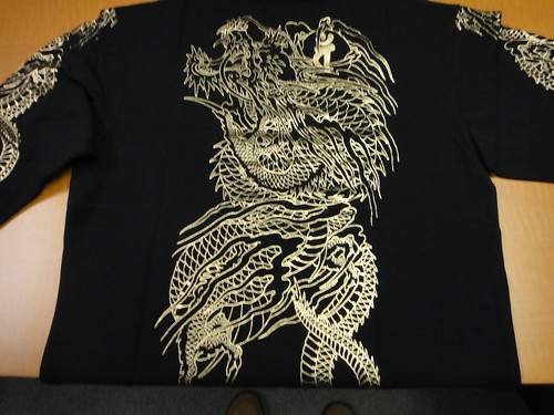 Yakuza 4 - Rare imported Golden Dragon long-sleeve shirt (back)
